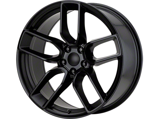 Hellcat Redeye Style Satin Black Wheel; 20x9 (08-20 All, Excluding Demon & Hellcat)