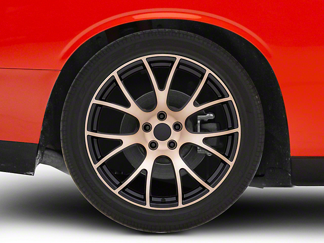 Hellcat Style Black Bronze Wheel; Rear Only; 20x10 (08-20 All, Excluding AWD)