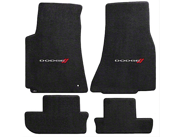 Lloyd Ultimat Front and Rear Floor Mats with Dodge Logo; Black (08-10 All)