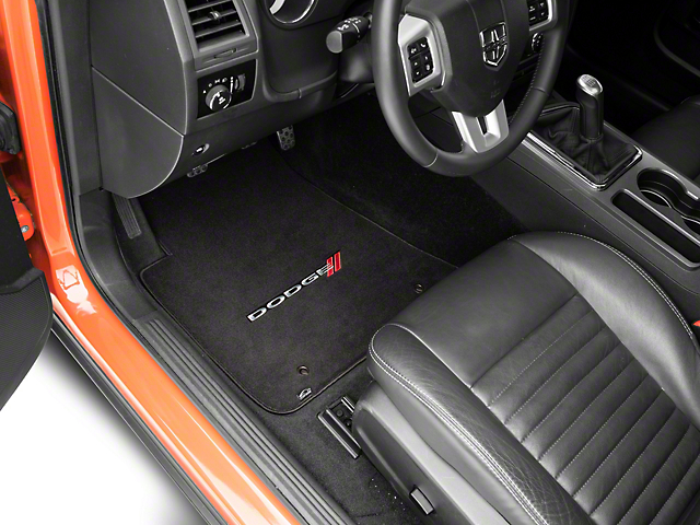 Lloyd Ultimat Front & Rear Floor Mats w/ Dodge Logo - Black (11-20 All, Excluding AWD)