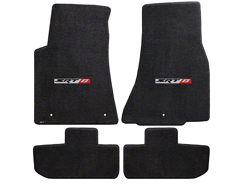Lloyd Ultimat Front and Rear Floor Mats with SRT8 Logo; Black (11-20 All, Excluding AWD)