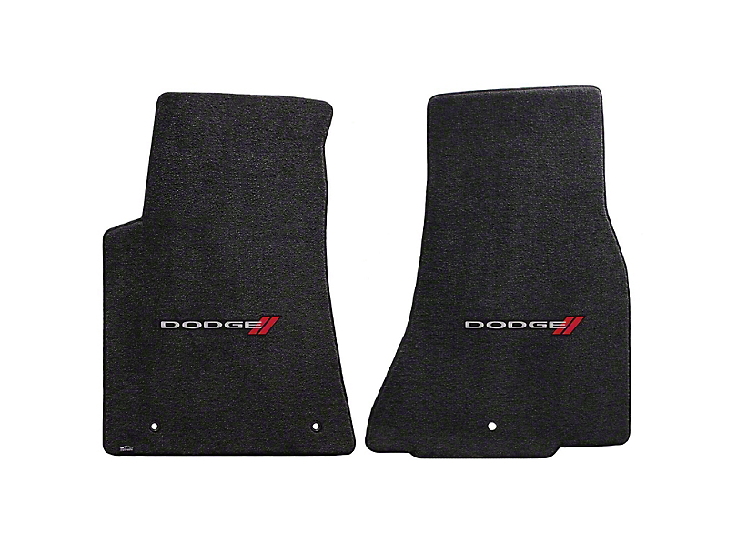 Lloyd Ultimat Front Floor Mats w/ Dodge Logo - Black (11-20 All, Excluding AWD)