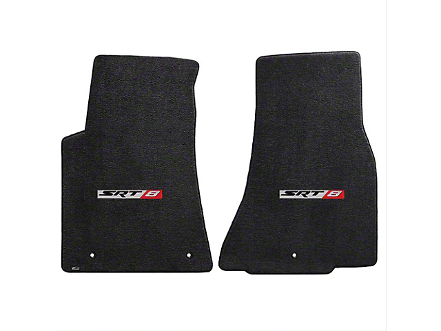Lloyd Ultimat Front Floor Mats with SRT8 Logo; Black (11-20 All, Excluding AWD)