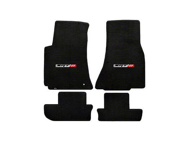Lloyd Velourtex Front and Rear Floor Mats with SRT8 Logo; Black (08-10 All)