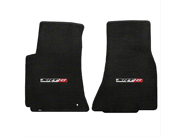 Lloyd Velourtex Front Floor Mats with SRT8 Logo; Black (08-10 All)