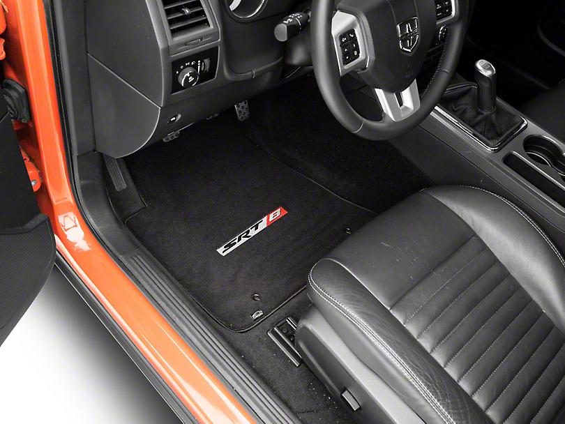 Lloyd Velourtex Front Floor Mats w/ SRT8 Logo - Black (11-20 All, Excluding AWD)