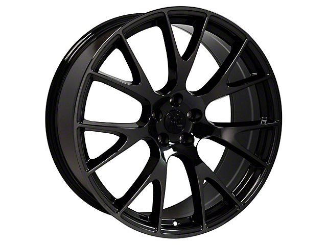 Hellcat Style Black Chrome Wheel; Rear Only; 20x10 (08-20 All, Excluding AWD)
