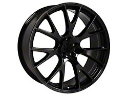 Hellcat Style Black Chrome Wheel; 20x9 (08-20 All, Excluding AWD)