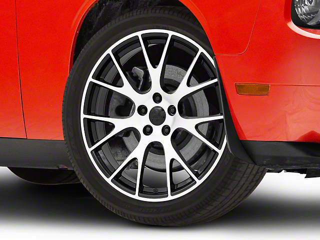 Hellcat Style Black Machined Wheel; 20x9 (08-20 All, Excluding AWD)