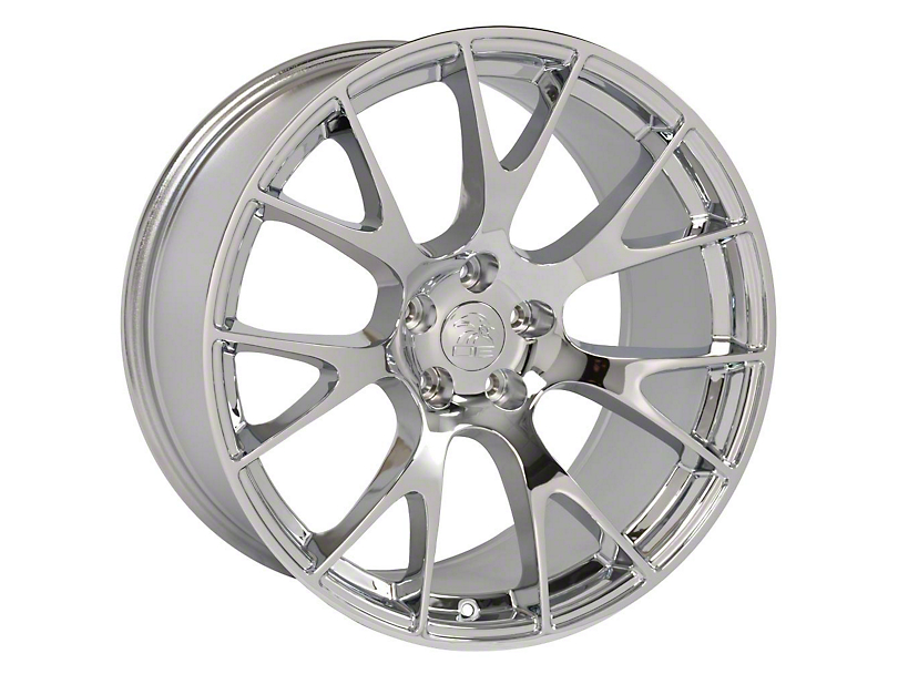 Hellcat Style Chrome Wheel; Rear Only; 20x10 (08-20 All, Excluding AWD)