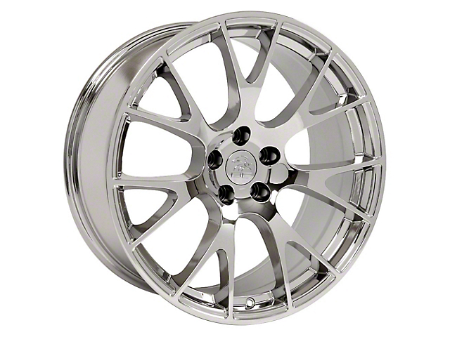 Hellcat Style Chrome Wheel; 22x9 (08-20 All, Excluding AWD)
