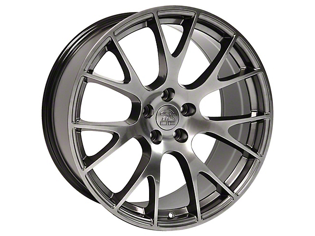 Hellcat Style Hyper Black Wheel; 22x9 (08-21 All, Excluding AWD)