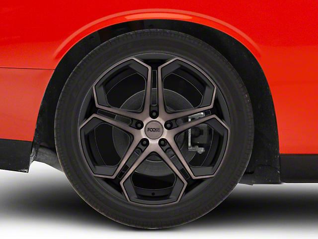 Foose Impala Matte Black Machined Wheel; Rear Only; 20x10.5 (08-21 All, Excluding AWD & Demon)