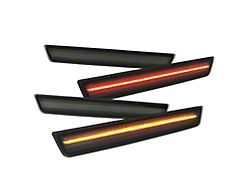 LED Side Marker Lights; Front and Rear; Smoked (15-20 All, Excluding Widebody)
