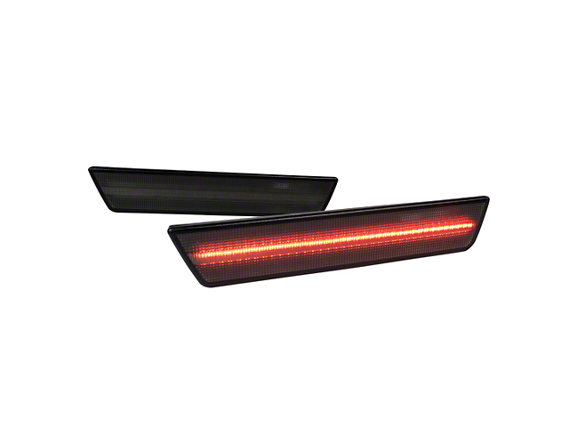 LED Side Marker Lights; Rear Only; Smoked (08-14 All)