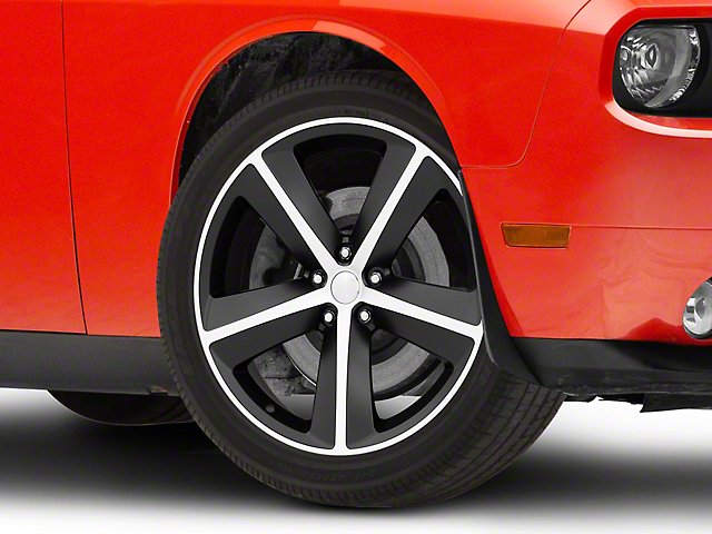 SRT8 Style Satin Black Machined Wheel; 20x9 (08-20 All, Excluding AWD)