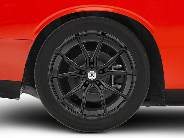 Asanti Vega Gloss Black Wheel; Rear Only; 20x10.5 (08-21 All, Excluding AWD, Demon & Hellcat)