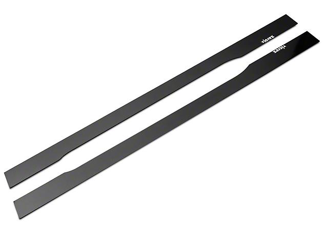 VZ Style Side Skirt Splitters; Gloss Carbon Fiber (15-21 All)