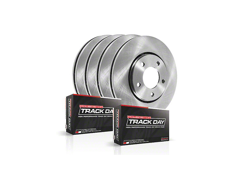 Power Stop Track Day Brake Rotor and Pad Kit; Front and Rear (15-17 Hellcat, SRT 392, T/A 392; 18-20 w/ 6-Piston Front Calipers)