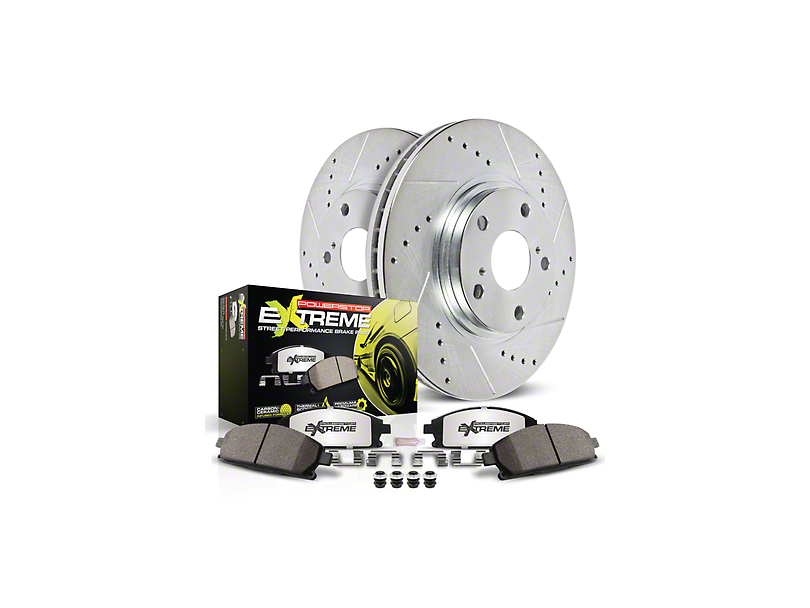 Power Stop Z26 Street Warrior Brake Rotor and Pad Kit; Front (15-17 Hellcat, SRT 392, T/A 392; 18-20 w/ 6-Piston Front Calipers)