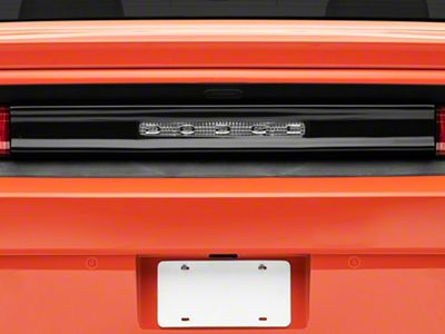 Challenger Rear Center Section Tail Light Cover With Opening For Dodge Logo Smoked 08 14 All
