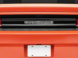 Rear Center Section Tail Light Cover with Opening for Dodge Logo; Smoked (08-14 All)