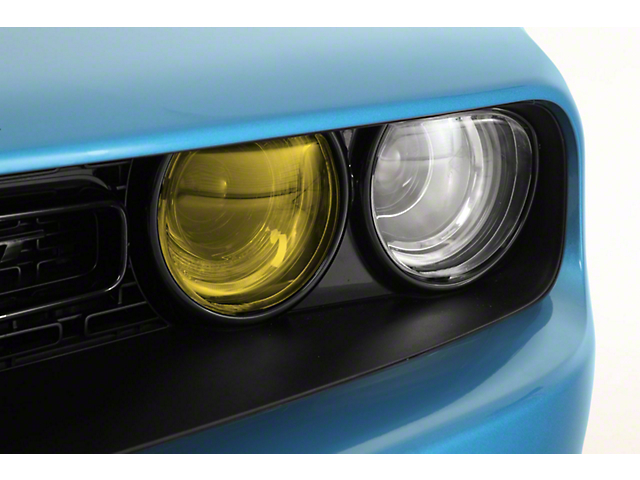 Headlight Covers; Yellow Inner/Clear Outer (15-21 All)