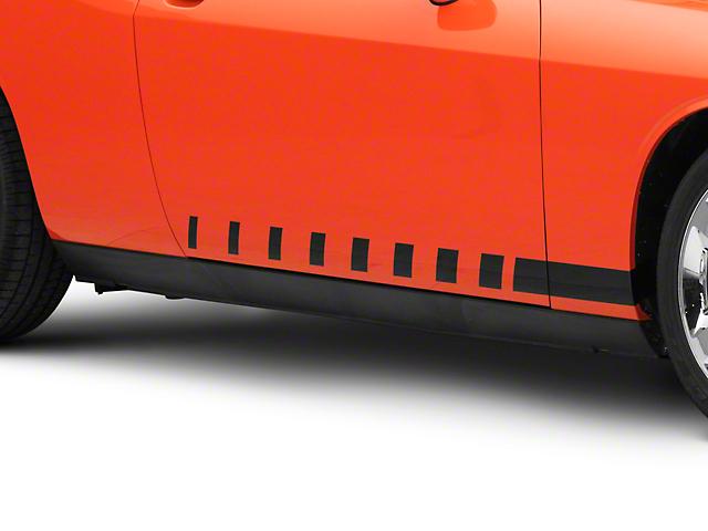 SEC10 Dashed Rocker Stripes; Gloss Black (08-21 All)