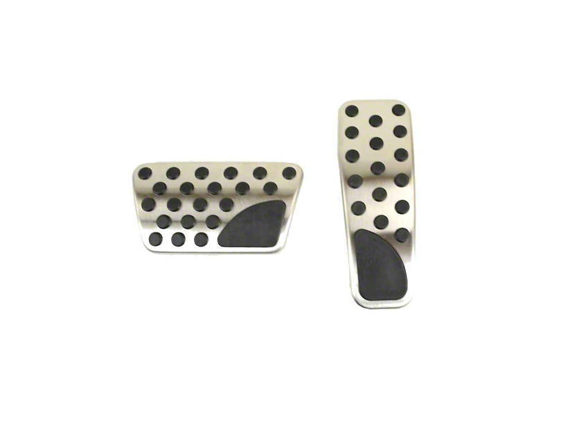 Mopar Pedal Covers; Stainless Steel (08-20 w/ Automatic Transmission)