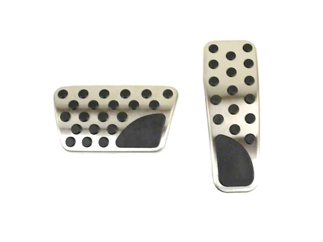 Mopar Pedal Covers; Stainless Steel (08-21 w/ Automatic Transmission)
