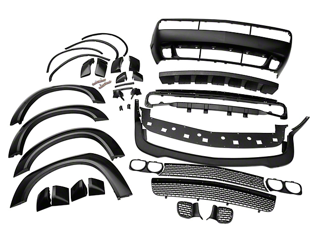 Demon Style Wide Body Kit; Unpainted (08-21 All, Excluding Widebody)