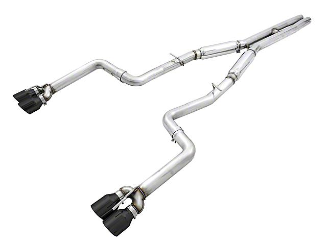 AWE Track Edition Cat-Back Exhaust with Diamond Black Quad Tips (15-21 6.4L HEMI)
