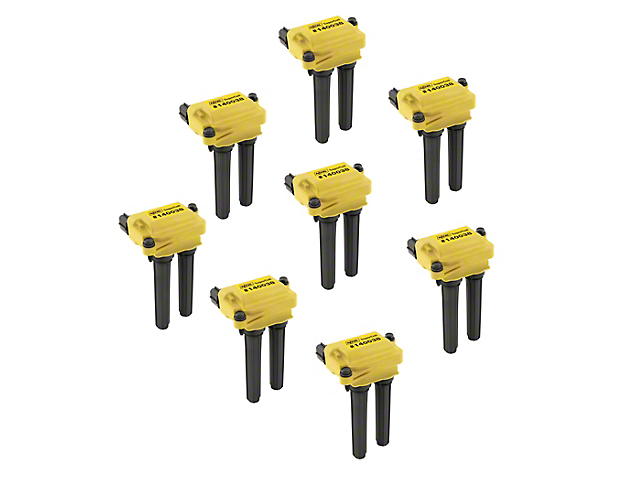 Accel SuperCoil Ignition Coils; Yellow; 8-Pack (08-20 V8 HEMI)