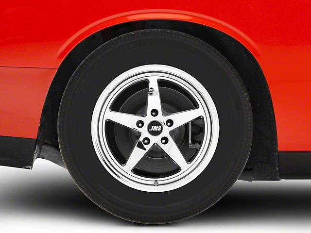 JMS Avenger Series White Chrome Wheel; Rear Only; 17x10 (08-21 All, Excluding AWD)