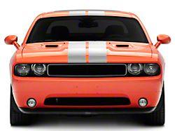 SEC10 Full Length Stripes; Silver; 8.50-Inch (08-21 All)