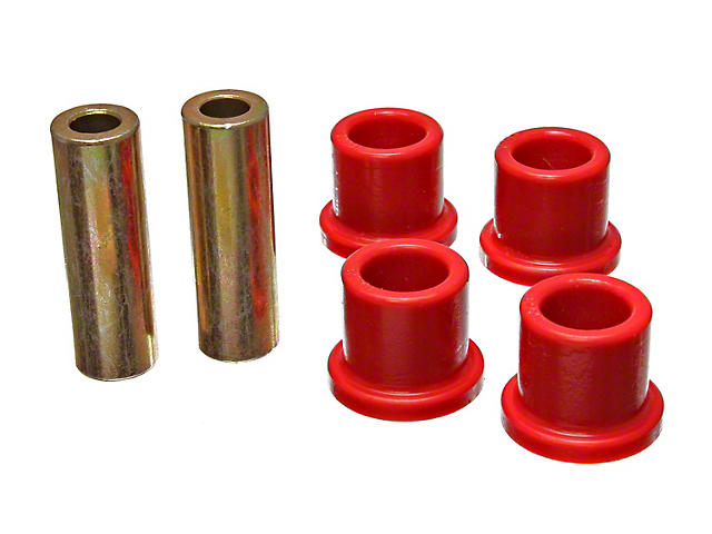 Rack and Pinion Bushings; Red (08-10 All)
