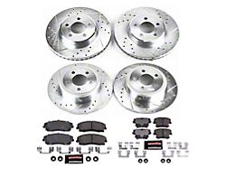 Power Stop Z23 Evolution Sport Brake Rotor and Pad Kit; Front and Rear (06-21 V6 w/ Single Piston Front Caliper)
