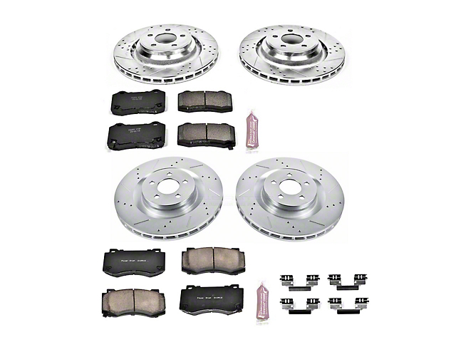 Power Stop Z23 Evolution Sport Brake Rotor and Pad Kit; Front and Rear (08-14 SRT8; 15-16 Scat Pack; 2017 R/T 392; 18-21 w/ 4-Piston Front Caliper)