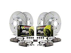 Power Stop Z26 Street Warrior Brake Rotor and Pad Kit; Front and Rear (15-17 Hellcat, SRT 392, T/A 392; 18-21 w/ 6-Piston Front Caliper)