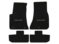 Lloyd Velourtex Front and Rear Floor Mats with Challenger Silver Logo; Black (11-21 All, Excluding AWD)