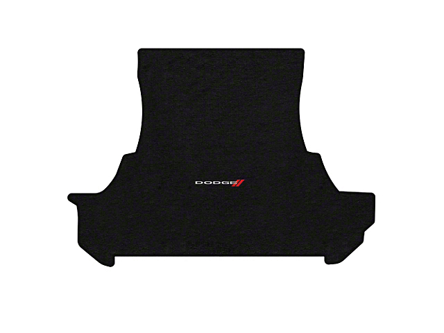 Lloyd Trunk Mat with Dodge and Stripe Logo; Black (12-21 All, Excluding AWD)