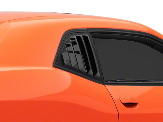 MP Concepts Quarter Window Louvers; Matte Black (08-21 All)