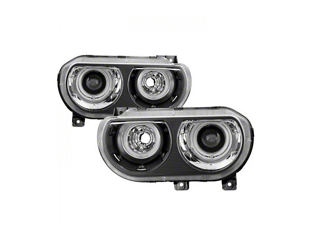 CCFL Halo Projector Headlights; Black Housing; Clear Lens (08-14 w/ HID Headlights)
