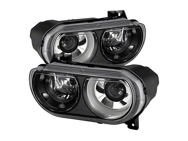 Projector Headlights; Black Housing; Clear Lens (08-14 w/ HID Headlights)