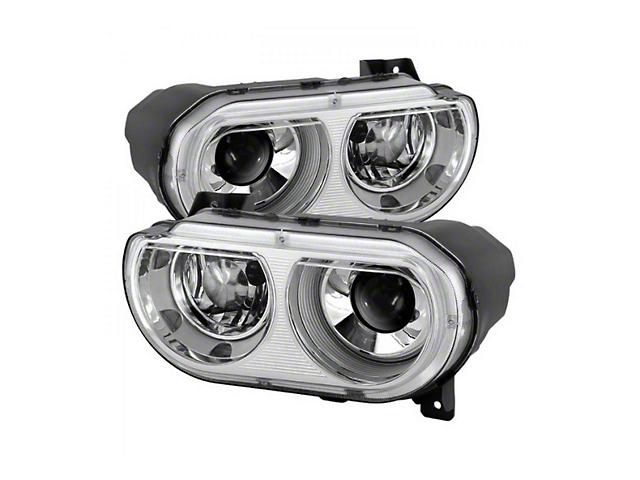 Projector Headlights; Chrome Housing; Clear Lens (08-14 w/ HID Headlights)
