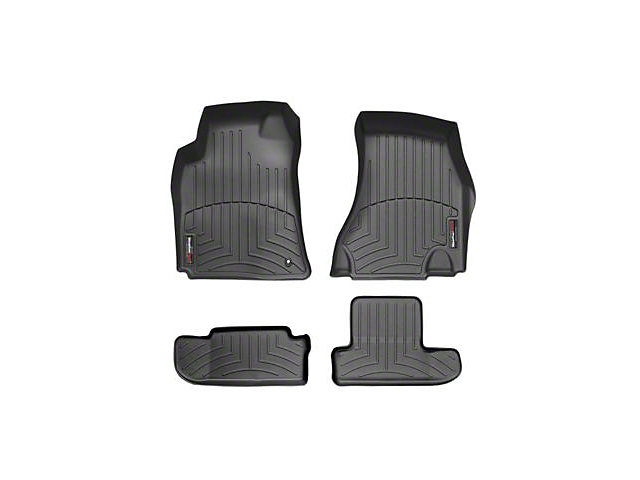 Weathertech DigitalFit Front and Rear Floor Liners; Black (08-10 All)