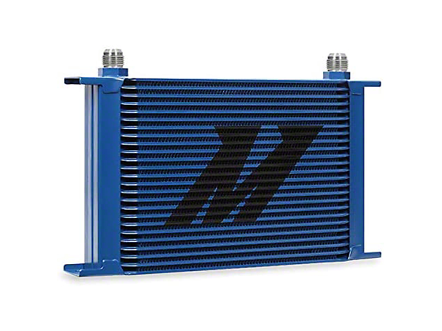 Mishimoto Engine Oil Cooler; Universal 25-Row Oil Cooler; Blue (Universal Fitment)
