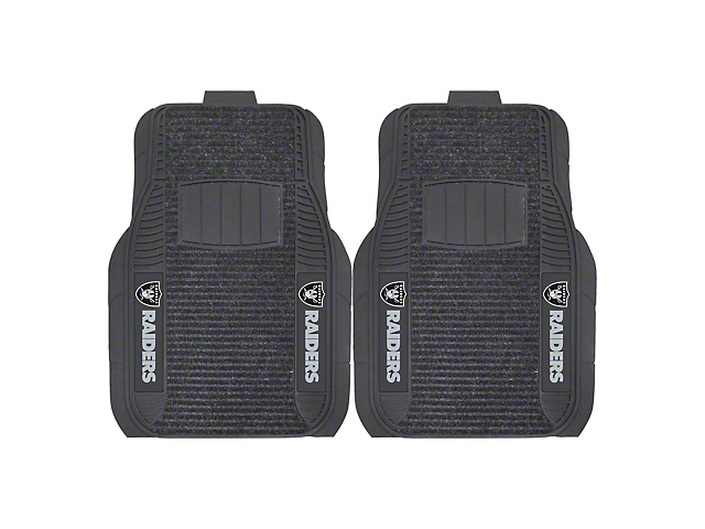 Molded Front Floor Mats with Las Vegas Raiders Logo (Universal Fitment)