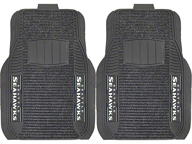 Molded Front Floor Mats with Seattle Seahawks Logo (Universal Fitment)