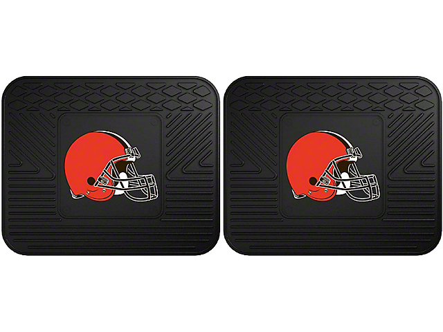 Molded Rear Floor Mats with Cleveland Browns Logo (Universal Fitment)
